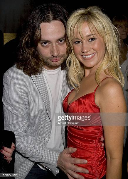 American Idol contestant Kellie Pickler and Constantine Mouralis attends the Just Cavalli Teen Vogue party celebrating summer on May 3 2006 in New...