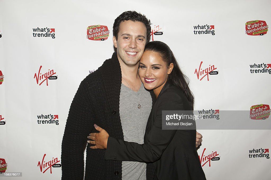 American Idol contestants and musical artists Jared Lee and Pia Toscano attend What's Trending Presents The 1st Annual Tube-A-Tweet-A-Thon Benefiting Covenant House on December 13, 2012 in Hollywood, California.