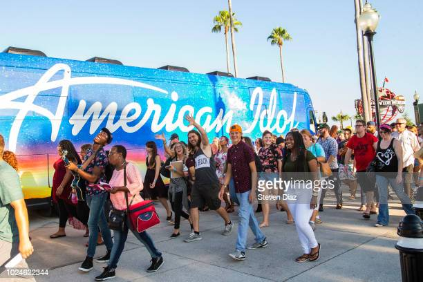 IDOL American Idol contestants arrive at the kickoff bus tour auditions at Walt Disney World Resort in Lake Buena Vista Fla Aug 25 2018 The tour...