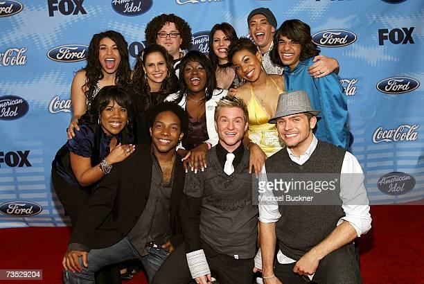 American Idol contestants Chris Sligh Gina Glocksen Phil Stacey Jordin Sparks Haley Scarnato LaKisha Jones Stephanie Edwards Sanjaya Malakar Melinda...