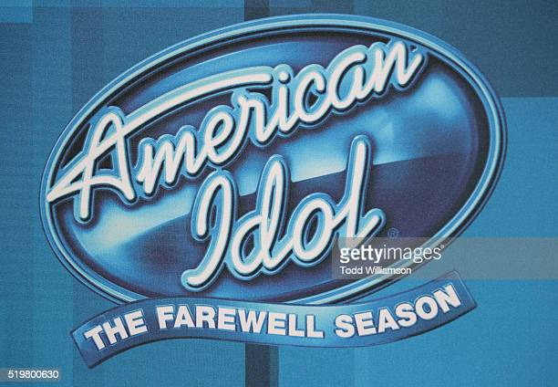 American Idol Farewell logo at FOX's 'American Idol' Finale For The Farewell Season at Dolby Theatre on April 7 2016 in Hollywood California
