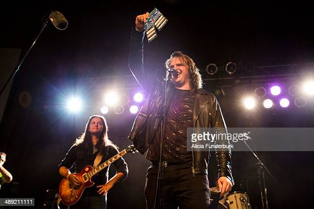 """American Idol"""" Finalist Caleb Johnson performs during his homecoming on May 10, 2014 in Asheville, North Carolina."""