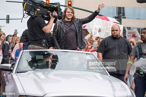 "American Idol"" Finalist Caleb Johnson's homecoming on May 10, 2014 in Asheville, North Carolina."