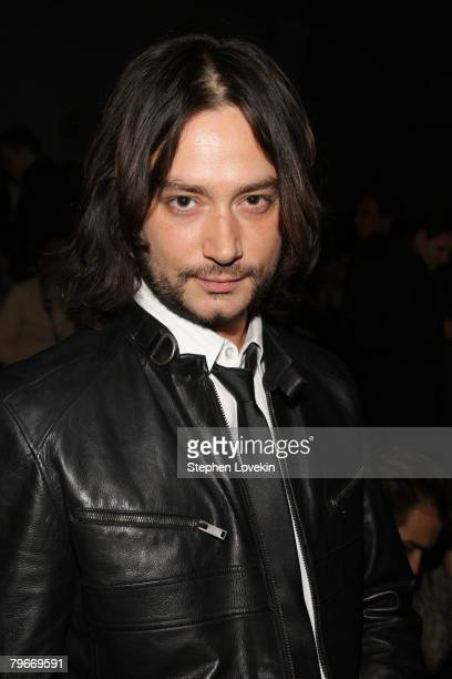 American Idol finalist Constantine Maroulis attends the Zang Toi Fall 2008 fashion show during MercedesBenz Fashion Week Fall 2008 at The Promenade...