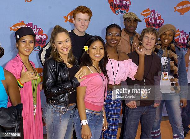 American Idol finalists during Nickelodeon's 17th Annual Kids' Choice Awards Arrivals at Pauley Pavillion in Westwood California United States