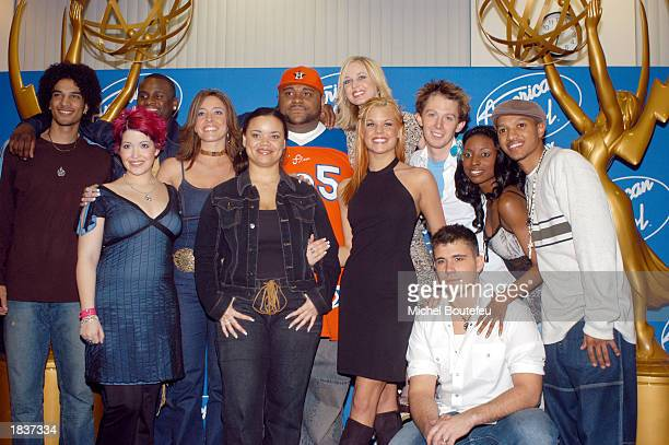 "American Idol finalists poses during the Academy of Television Arts & Sciences Activities Committee present ""American Idol Live"" featuring the 12..."