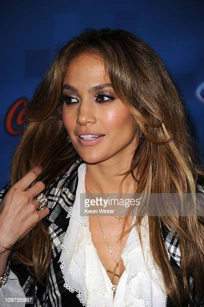 American Idol Judge Jennifer Lopez attends Fox's 'American Idol' Finalist Party on March 3 2011 in Los Angeles California
