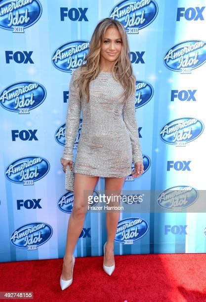 American Idol judge Jennifer Lopez attends Fox's American Idol XIII Finale at Nokia Theatre LA Live on May 21 2014 in Los Angeles California