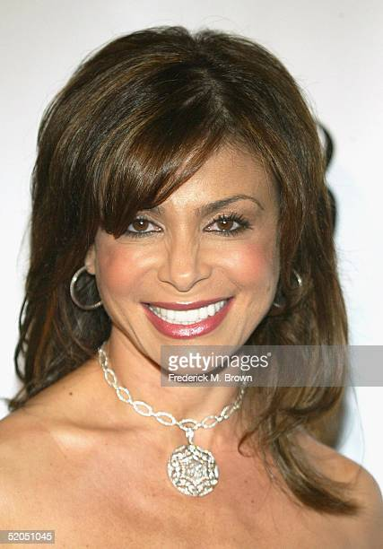 'American Idol' judge Paula Abdul attends The WB 2005 Television Critics Winter Press Tour Party at The WB Studios on January 22 2005 in Burbank...