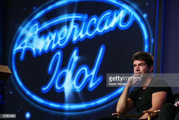 American Idol judge Simon Cowell at the FOX 2002 SummerTCA Tour at the Huntington Ritz Carlton Hotel in Pasadena CA on Monday July 22 2002 Photo...
