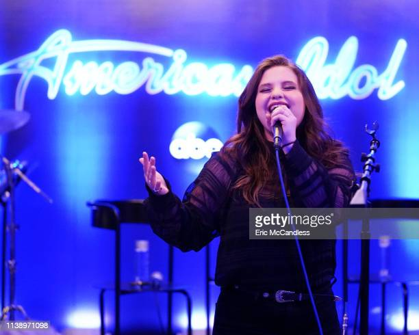 IDOL American Idol Judges Luke Bryan Katy Perry and Lionel Richie along with inHouse mentor Bobby Bones and the Top 8 Finalists attended a private...