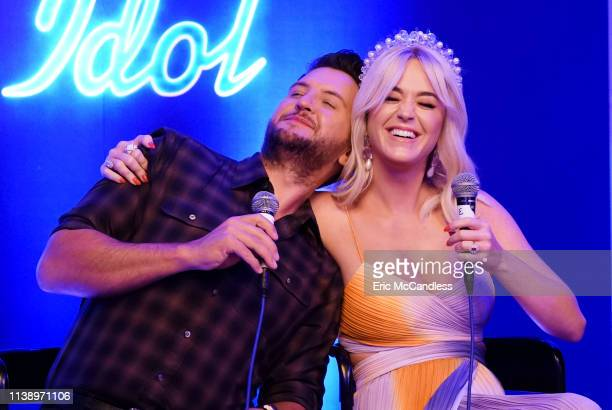 American Idol Judges Luke Bryan, Katy Perry and Lionel Richie, along with in-House mentor Bobby Bones, and the Top 8 Finalists attended a private...
