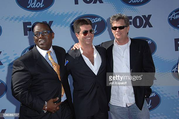 American Idol judges Rabdy Jackson and Simon Cowell with David Foster