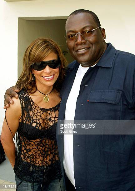 American Idol judges Randy Jackson and Paula Abdul pose for a photo backstage during a taping for MTV Spring Break 2003 at the Surfcomber Hotel March...