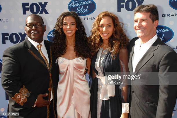 'American Idol' judges Randy Jackson and Simon Cowell with Terri Seymour and guest