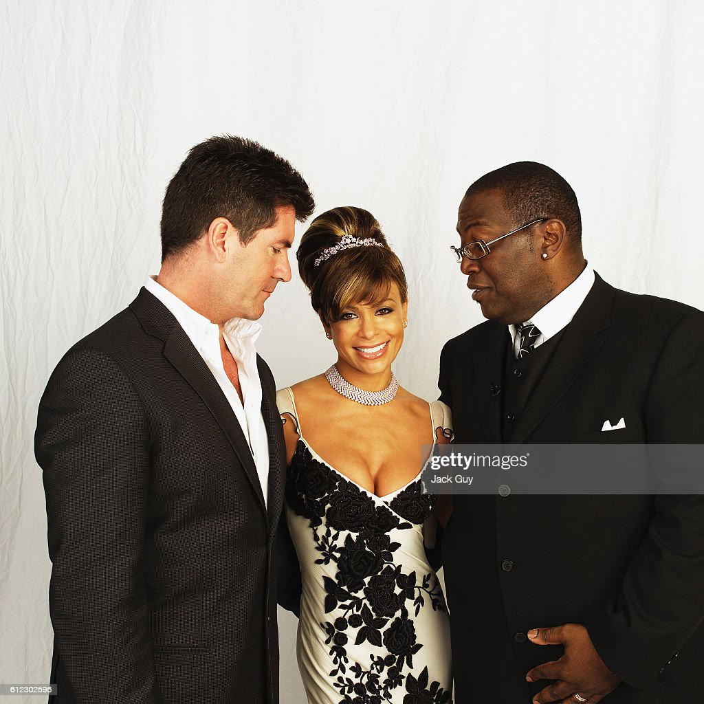 American Idol judges Simon Cowell, Paula Abdul, and Randy Jackson are photographed for Emmy Magazine at the 55th Annual Emmy Awards on September 21, 2003 in Los Angeles California.