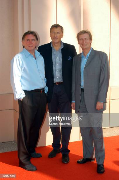 American Idol Producers Ken Warwick David Lyle and Nigel Lythgoe poses during the Academy of Television Arts Sciences Activities Committee present...