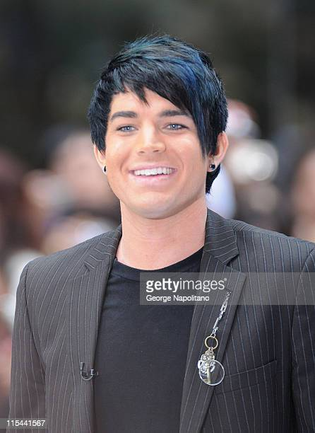 American Idol runner up Adam Lambert performs on NBC's Today in Rockefeller Center on May 28 2009 in New York City