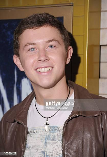 American Idol season 10 winner Scotty McCreery visits Broadway's SpiderMan Turn Off the Dark at the Foxwoods Theatre on June 1 2011 in New York City