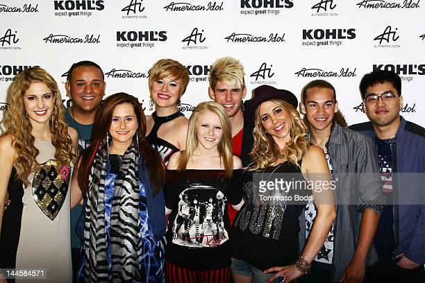 American Idol season 11 contestants Shannon Magrane Jeremy Rosado Skylar Laine Hollie Cavanagh Erika Van Pelt Colton Dixon Elise Testone DeAndre...
