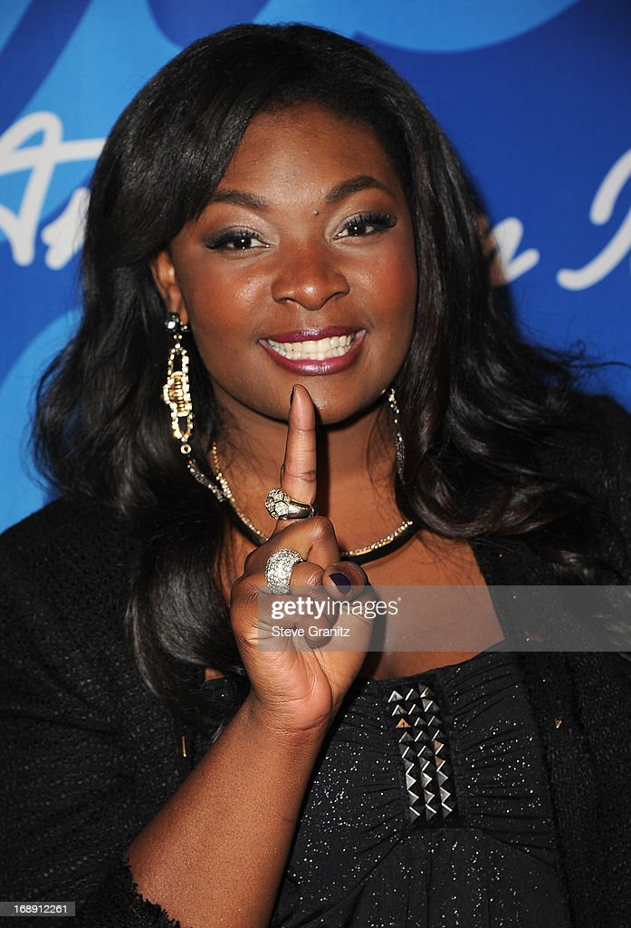'American Idol' Season 12 winner Candice Glover poses in FOX's 'American Idol' Grand Finale press room at Nokia Theatre L.A. Live on May 16, 2013 in Los Angeles, California.