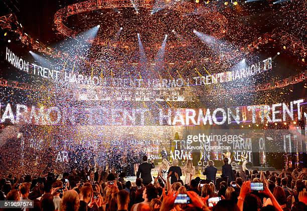 """American Idol Season 15 winner Trent Harmon performs coronation song onstage during FOX's """"American Idol"""" Finale For The Farewell Season at Dolby..."""