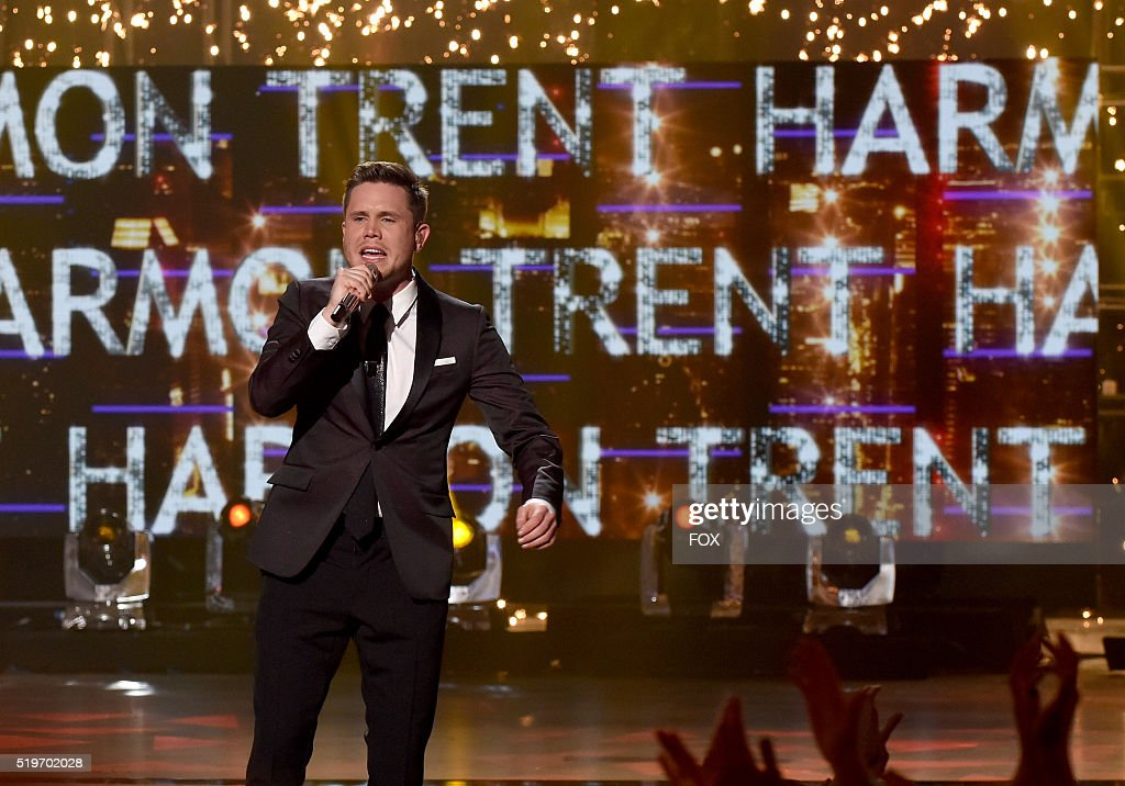 American Idol Season 15 winner Trent Harmon sings his winning song onstage at FOX's American Idol Season 15 Finale on April 7, 2016 at the Dolby Theatre in Hollywood, California.