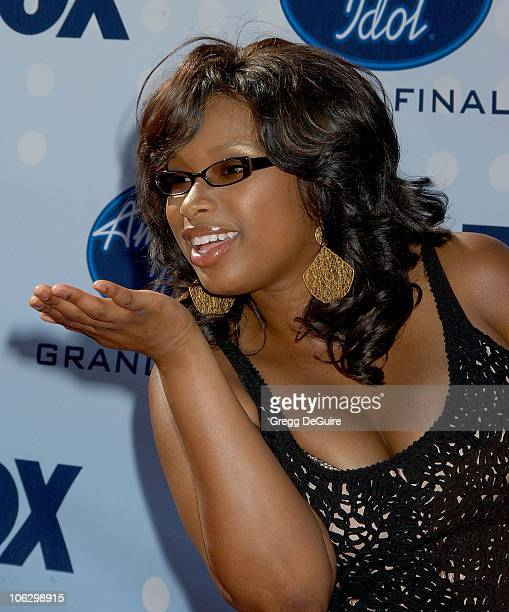 'American Idol' Season 3 finalist Jennifer Hudson during 'American Idol' Season 6 Finale Arrivals at Kodak Theatre in Hollywood California United...