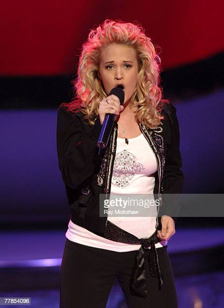 'American Idol' Season 4 Top 11 Finalist Carrie Underwood from Checotah Oklahoma