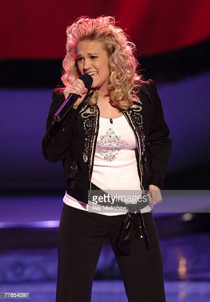 'American Idol' Season 4 Top 11 Finalist Carrie Underwood from Checotah Oklahoma