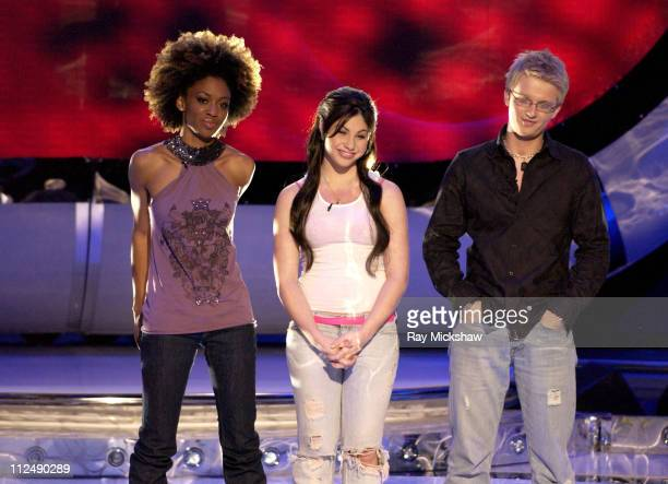 'American Idol' Season 4 Top 11 Finalists Nadia Turner from Miami Florida and Mikalah Gordon from Las Vegas Nevada and Anthony Fedorov from Trevose...