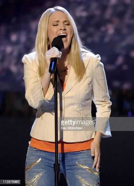 'American Idol' Season 4 Top 2 Finalist Carrie Underwood from Checotah Oklahoma