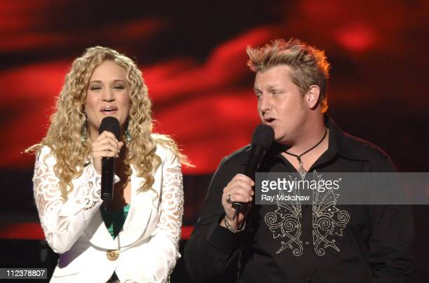 """American Idol"" Season 4 - Top 2 Finalist, Carrie Underwood from Checotah, Oklahoma with Rascal Flatts"