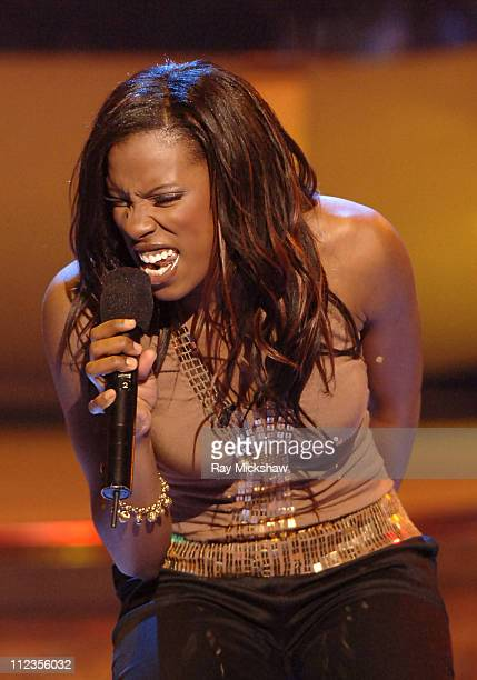 American Idol Season 4 Top 4 Finalist Vonzell Solomon from Fort Myers Florida