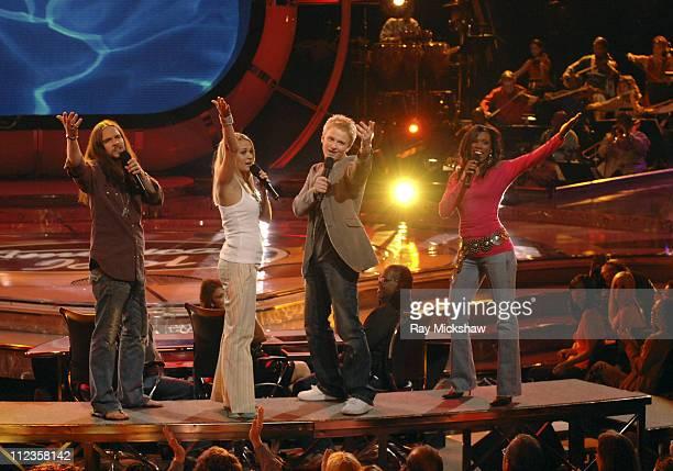 'American Idol' Season 4 Top 4 Finalists Bo Bice from Helena Alabama Anthony Fedorov from Trevose Pensylvania Carrie Underwood from Checotah Oklahoma...