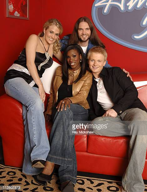 'American Idol' Season 4 Top 4 Finalists Carrie Underwood from Checotah Oklahoma Bo Bice from Helena Alabama Anthony Fedorov from Trevose Pensylvania...