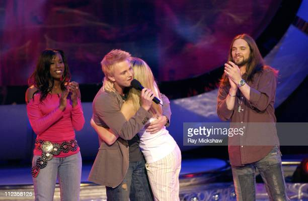 'American Idol' Season 4 Top 4 Finalists Vonzell Solomon from Fort Myers Florida Anthony Fedorov from Trevose Pensylvania Carrie Underwood from...