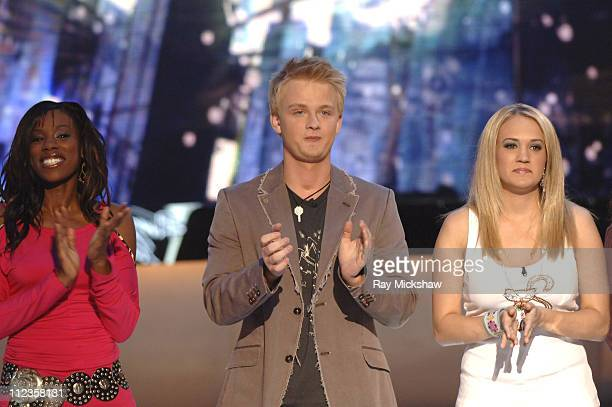 'American Idol' Season 4 Top 4 Finalists Vonzell Solomon from Fort Myers Florida Anthony Fedorov from Trevose Pensylvania and Carrie Underwood from...