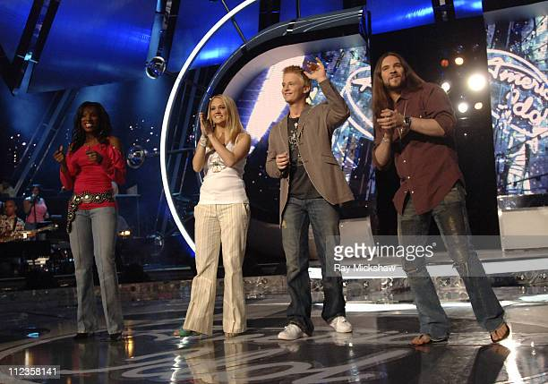'American Idol' Season 4 Top 4 Finalists Vonzell Solomon from Fort Myers Florida Carrie Underwood from Checotah Oklahoma Anthony Fedorov from Trevose...