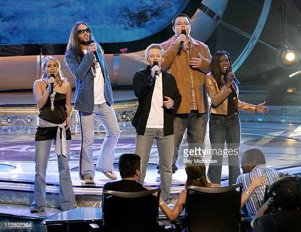 'American Idol' Season 4 Top 5 Finalists Carrie Underwood from Checotah Oklahoma Bo Bice from Helena Alabama Anthony Fedorov from Trevose Pensylvania...