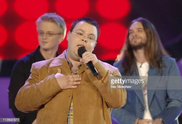 'American Idol' Season 4 Top 5 Finalists Scott Savol from Cleveland Ohio Anthony Fedorov from Trevose Pensylvania and Bo Bice from Helena Alabama