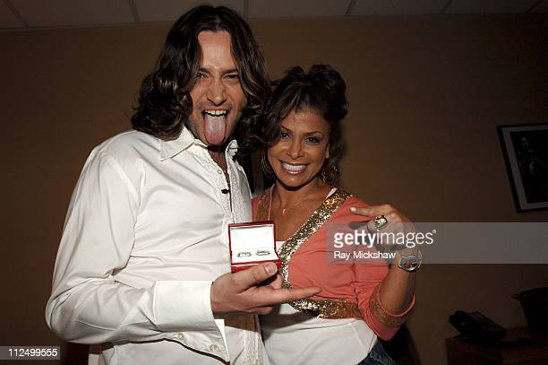 'American Idol' Season 4 Top 6 Finalist Constantine Maroulis from New York City New York and Paula Abdul judge