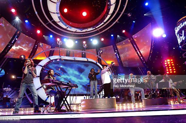'American Idol' Season 4 Top 7 Finalists Constantine Maroulis Anwar Robinson Vonzell Solomon Scott Savol Anthony Fedorov Carrie Underwood and Bo Bice