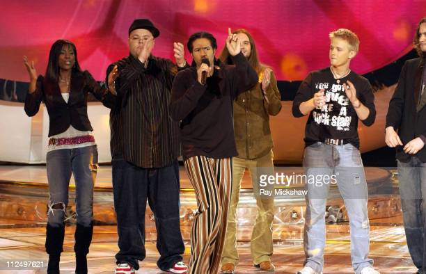 'American Idol' Season 4 Top 7 Finalists Vonzell Solomon Scott Savol Anwar Robinson Bo Bice and Anthony Fedorov