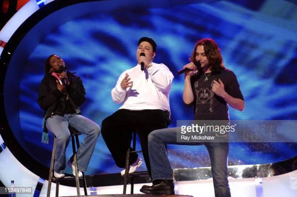 'American Idol' Season 4 Top 7 Finalists Vonzell Solomon Scott Savol and Constantine Maroulis