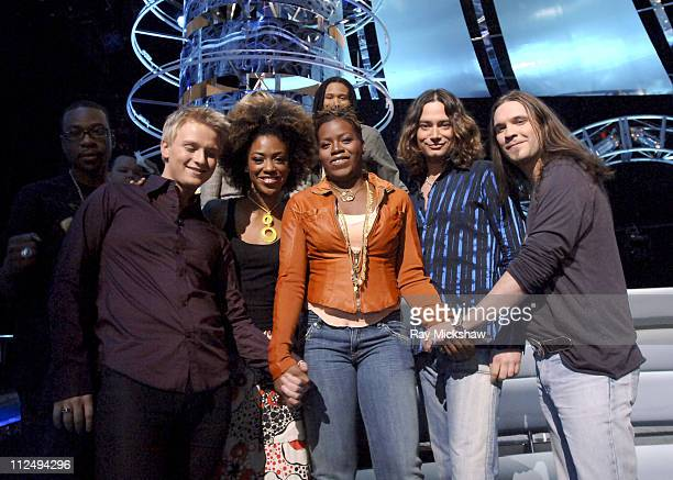 'American Idol' Season 4 Top 8 Finalists Anthony Fedorov from Trevose Pensylvania Nadia Turner from Miami Florida Constantine Maroulis from New York...