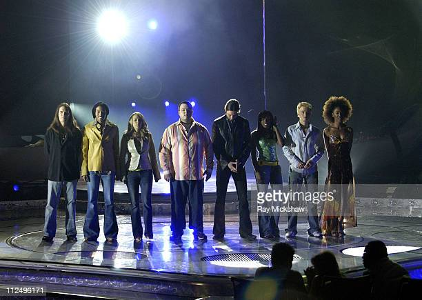 'American Idol' Season 4 Top 8 Finalists Bo Bice from Helena Alabama Anwar Robinson from Newark New Jersey Carrie Underwood from Checotah Oklahoma...