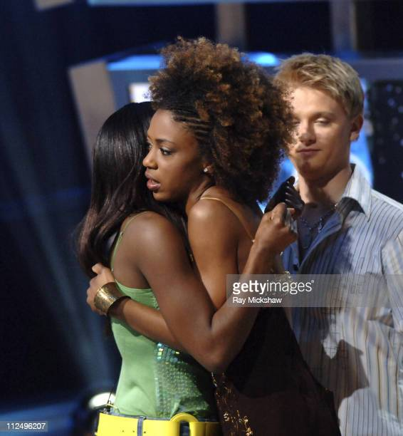 'American Idol' Season 4 Top 8 Finalists Vonzell Solomon from Fort Myers Florida Nadia Turner from Miami Florida and Anthony Fedorov from Trevose...
