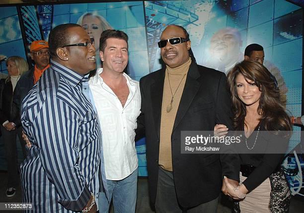 American Idol Season 5 Randy Jackson Simon Cowell Stevie Wonder and Paula Abdul *EXCLUSIVE*
