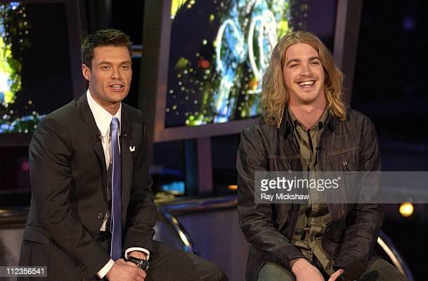 """American Idol"" Season 5 - Ryan Seacrest, host and Top 11 Finalist, Bucky Covington from Rockingham, North Carolina *EXCLUSIVE*"